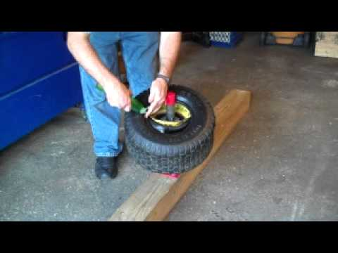 How To Mount A Tire On A Lawn Tractor Youtube