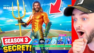 *NEW* AQUAMAN SKIN - Fortnite Chapter 2 SEASON 3 Battlepass! (REACTION)