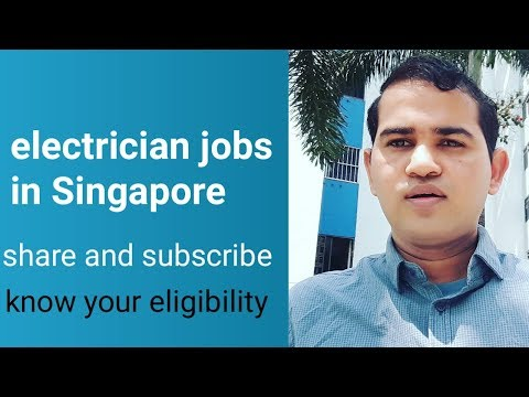 Electrician Jobs In Singapore