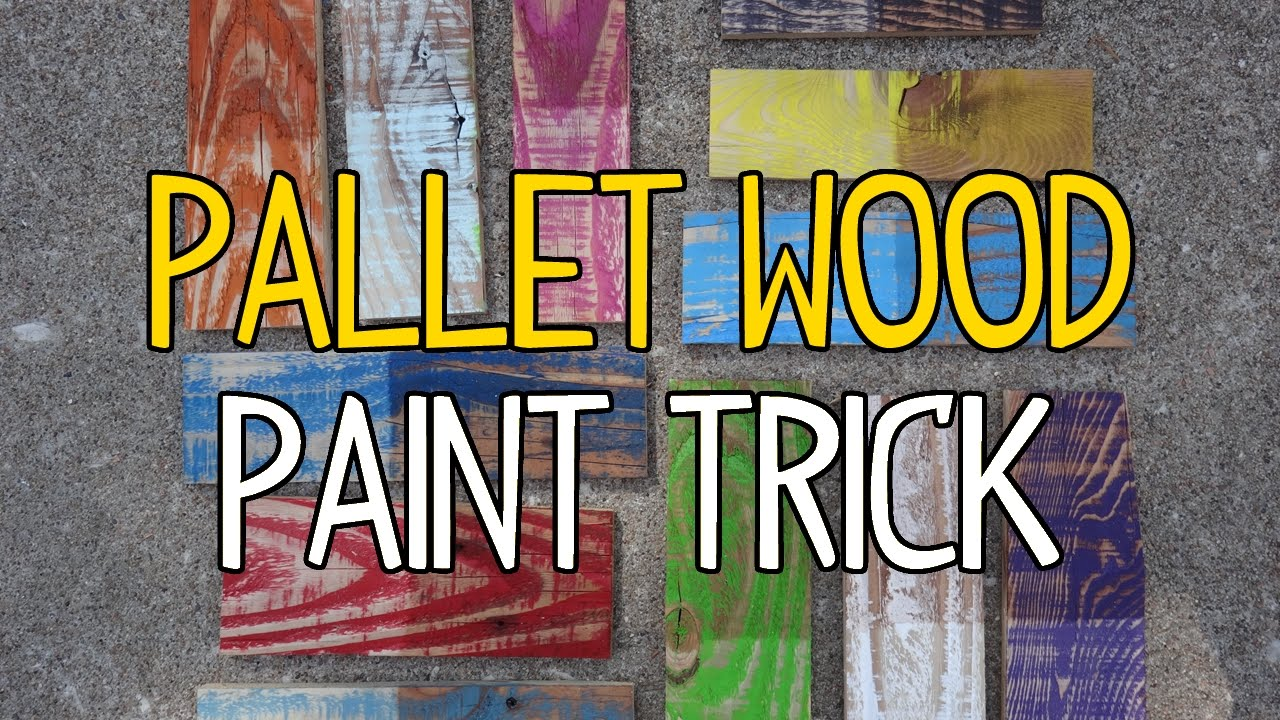 Diy Pallet Wood Paint Trick Youtube