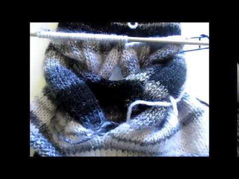 tricoter un snood tresse