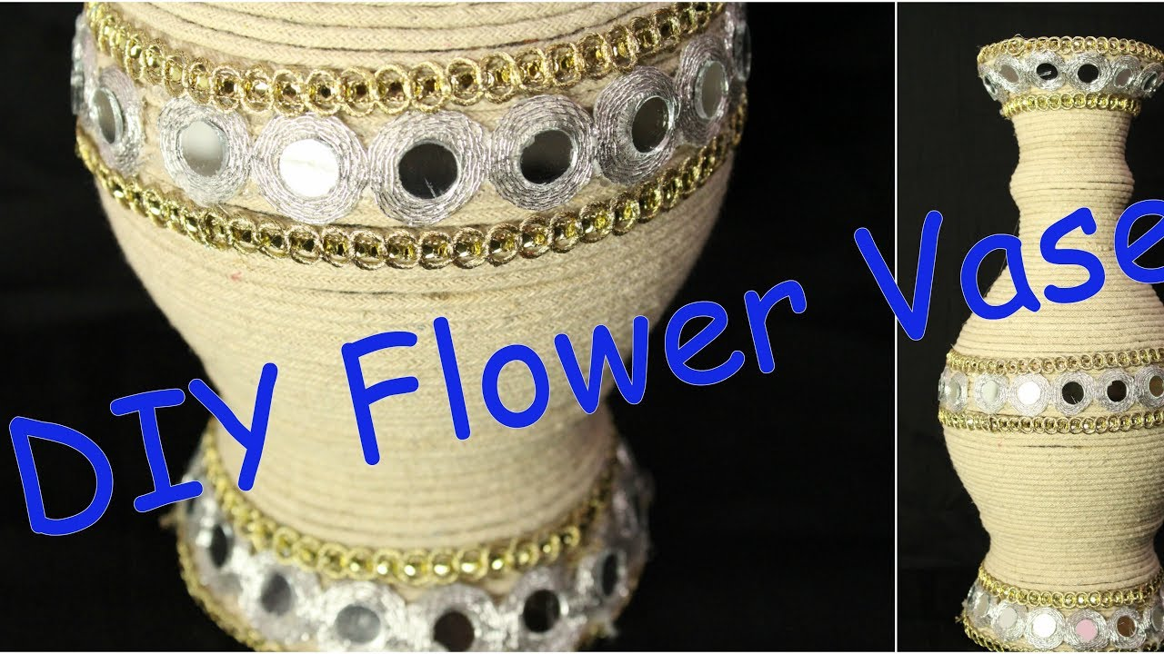 how to turn your old flower vase into new vase in just 10 min i diy