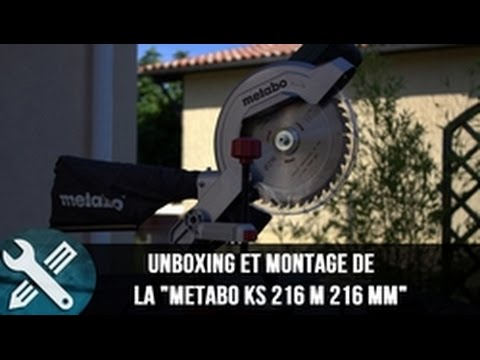 bricolage vlogs unboxing et montage de la metabo ks 216 m 216 mm youtube. Black Bedroom Furniture Sets. Home Design Ideas