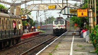 The most speedy train Howrah rajdhani express overtakes masagram local brutally at Balarambati