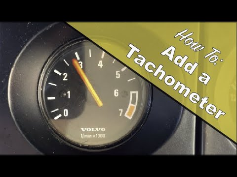 How to install a 52mm Tachometer into a 1990 Volvo 240 B230F