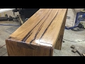 Bar style bench with dovetailed corners