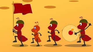 The ants go marching one by one song | Ants at war