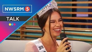 Kulitan at kantahan with Miss Universe PH 2018 Catriona Gray