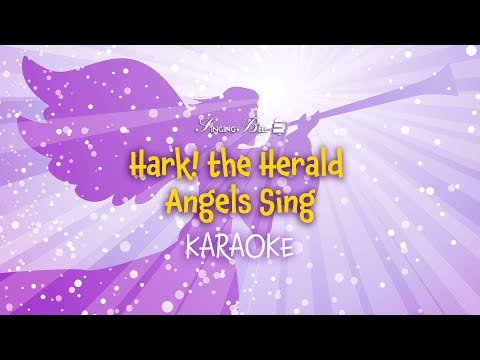 Hark! the Herald Angels sing (lyrics video for karaoke) - in G