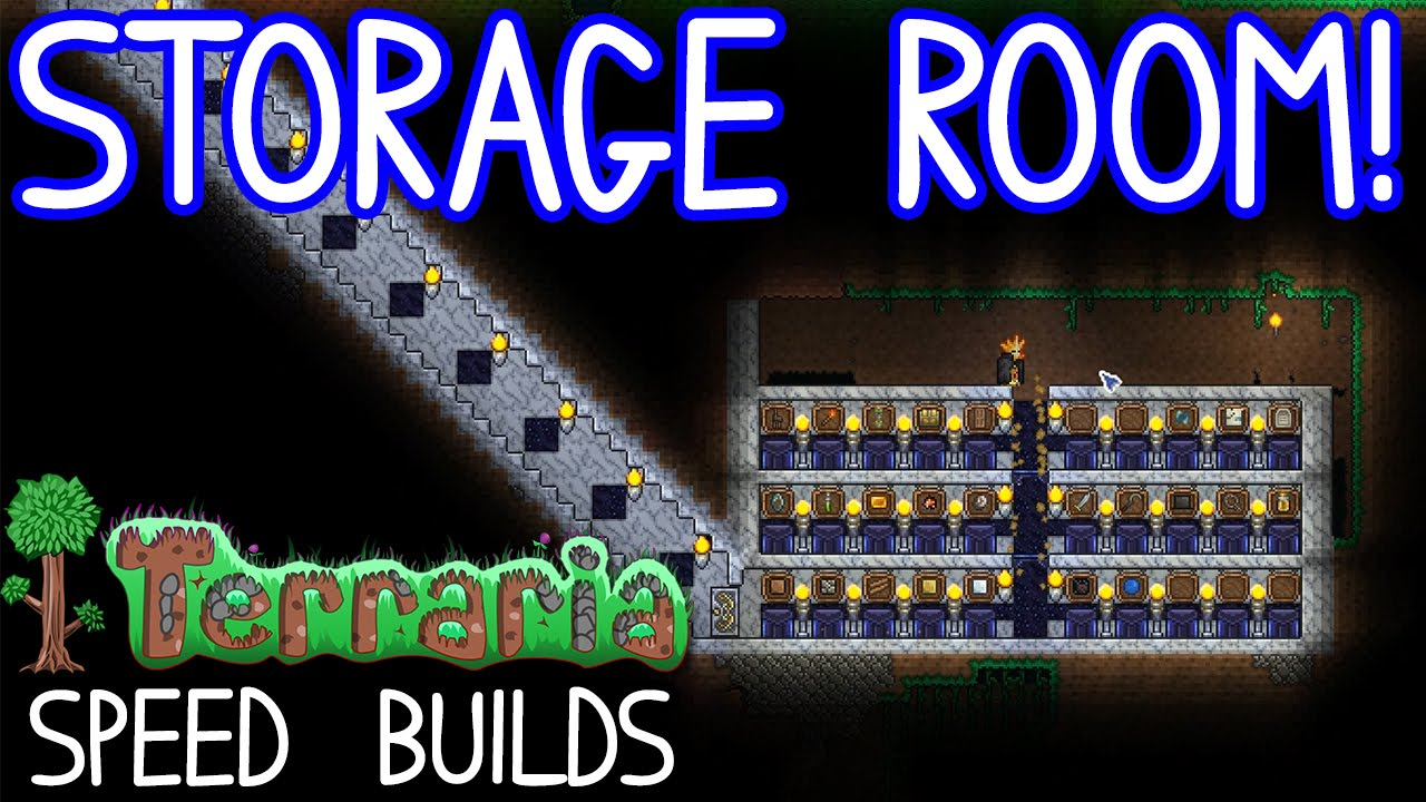 The Marble Storage Room Terraria 1 3 Speedbuilds Youtube