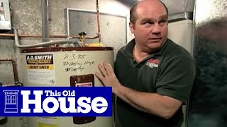 how to flush a water heater this old house