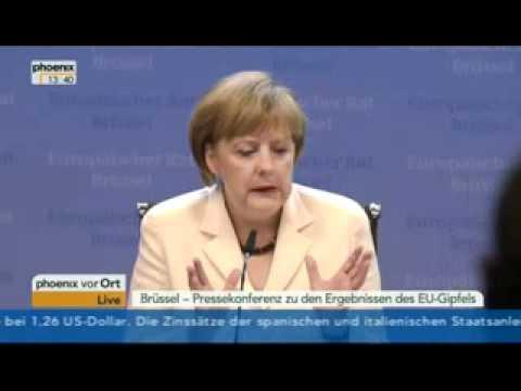 Angela Merkel und das Memorandum of Understanding - Pressekonferenz - 29.06.2012
