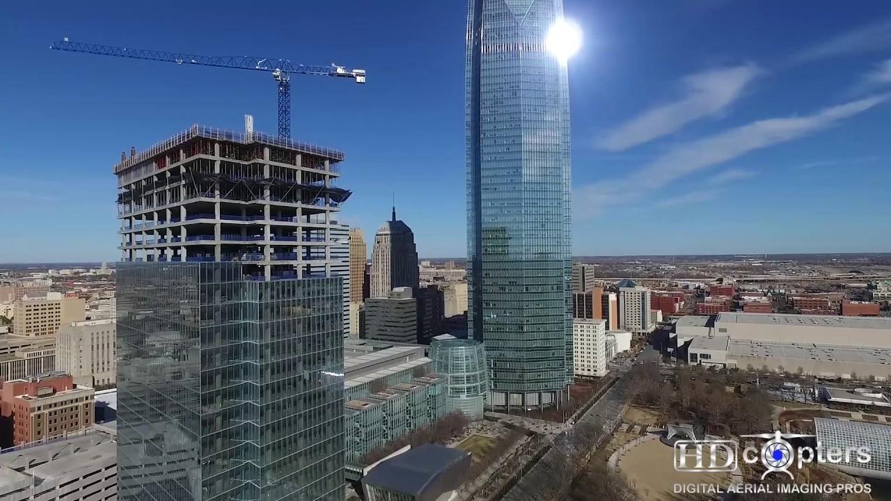 Bank of Oklahoma Tower - Oklahoma City, OK Aerial View ...