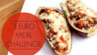 3 euro challenge - gevulde aubergine
