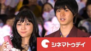 俳優の山崎賢人が18日、都内で行われた映画『一週間フレンズ。』初日舞...