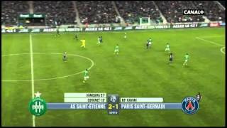 ASSE PSG match en entier 2éme mi-temps commentaires canal+