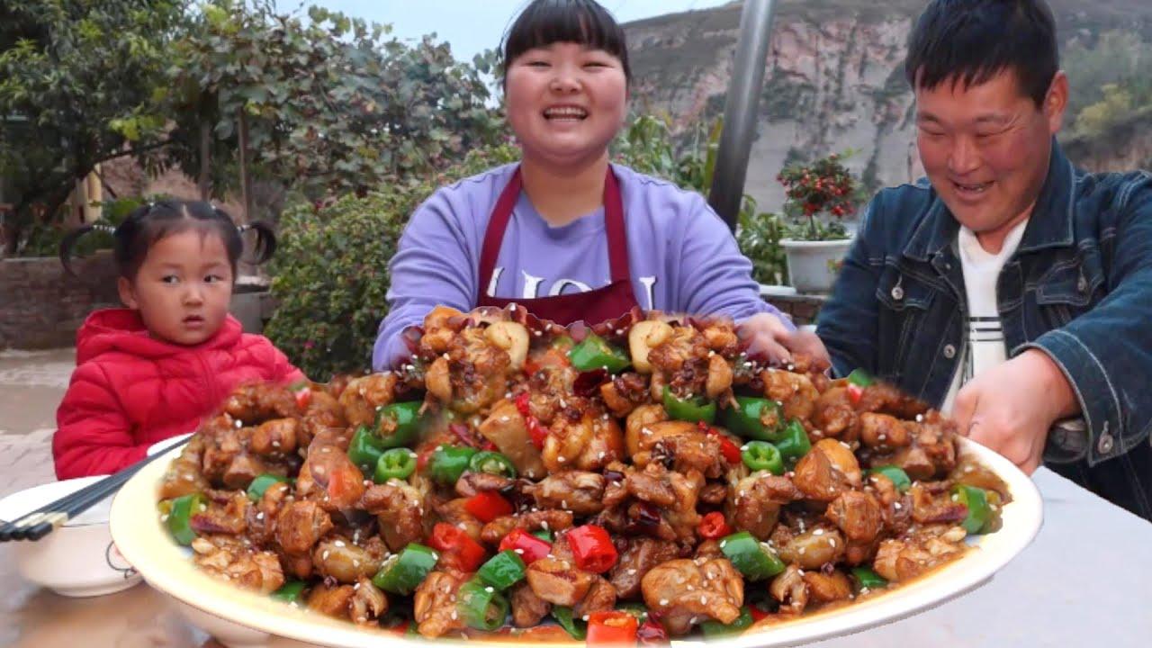 【陕北霞姐】长假结束,霞姐做家常辣子炒鸡腿,一次炒10根,香辣入味,猛香了!