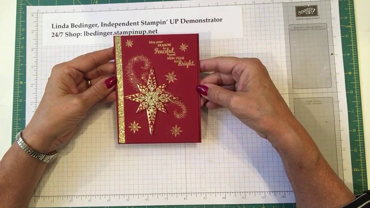 Red & Gold Starlight Christmas Card - YouTube