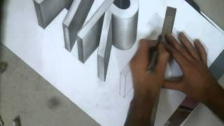 Draw your name in 3D - NEW VIDEO