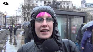 Repeat youtube video Anti Margaret Thatcher Party Trafalgar Square - Uncensored contains swearing, over 18 only!
