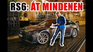 Mindenen át, könyörtelenül - Audi RS6 2020 Teszt | 4K