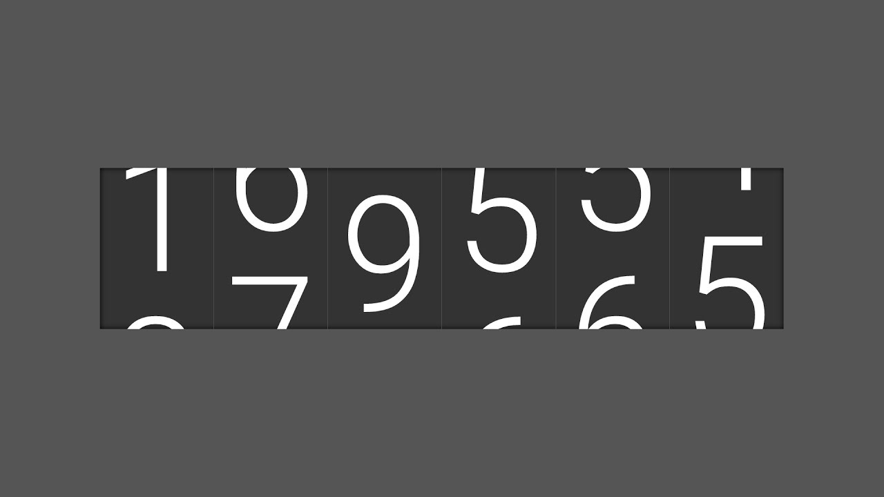 Development of NUMBER TICKER ODOMETER Widget JavaScript SCSS