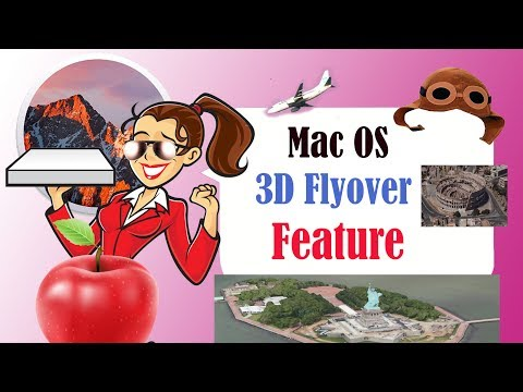 Apple Mac Tips - How to use the Mac OS X 3D Flyover (city tour) - Virtual Tour VR