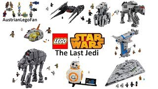 All Lego Star Wars The Last Jedi Sets so far - Lego Speed Build Review
