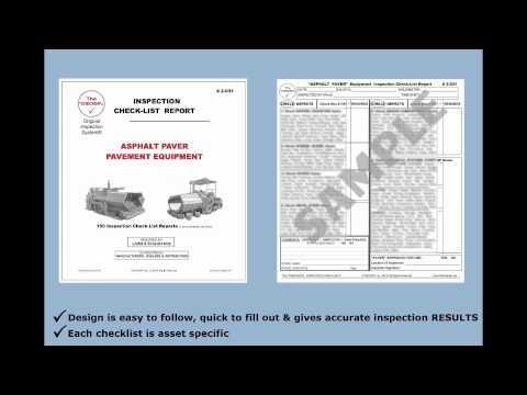 Asphalt Paver Pavement Equipment Inspection Checklist #2-031 The Checker