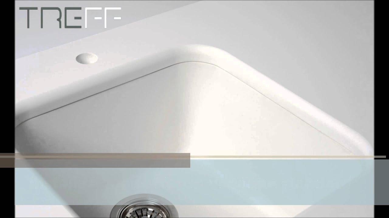 Treff - installazione sottotop vasca in quarzo - YouTube