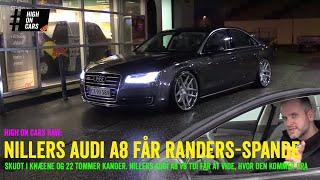 """Nillers Audi A8 får 22"""" Rohana spande og bliver skudt i knæene - på tur til Kjøvenhavnstrup! HoC Raw"""