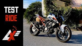 2017 KTM 125 Duke TEST RIDE (RAW SOUND & TOP SPEED)