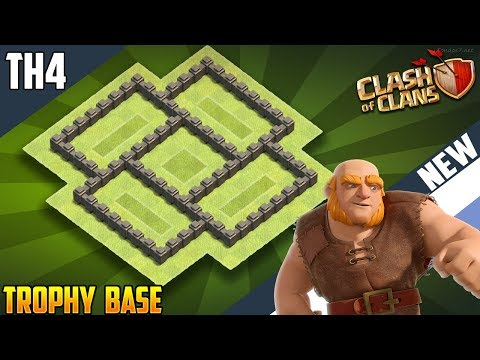 New INSANE Town Hall 4 [TH4] TROPHY Base 2018!! COC BEST Th4 Trophy Base Design - Clash Of Clans