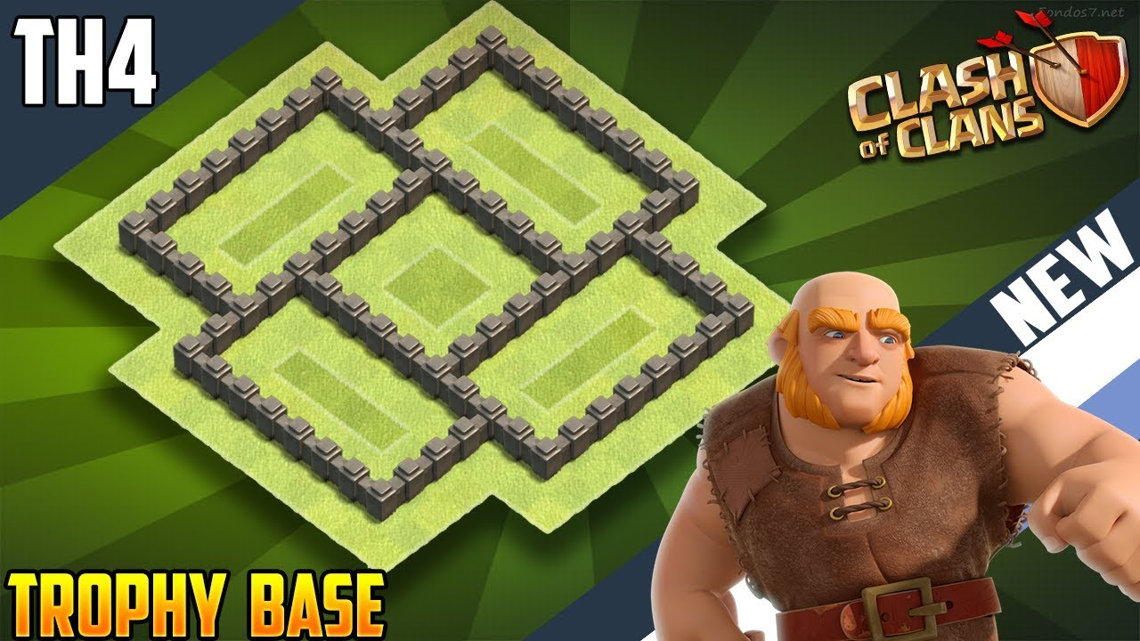 New Insane Town Hall 4 Th4 Trophy Base 2018 Coc Best Th4 Trophy