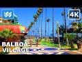 Walking around Balboa Village in Newport Beach, California 【4K】