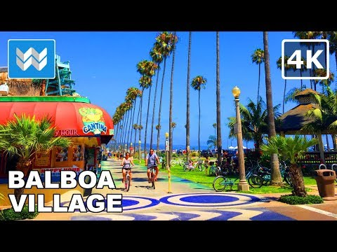 Walking Around Balboa Village In Newport Beach, California 【4K】
