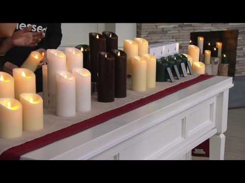 Luminara Set of (4) Flameless Unscented Candles with Remotes on QVC