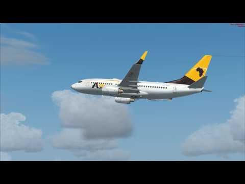 vol Libreville à Bangui Boeing 737 700 Asky vol commenté