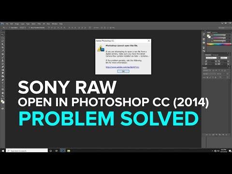 HOW TO OPEN SONY RAW FILE IN PHOTOSHOP (malayalam)