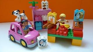 Đồ Chơi Lego Dễ Thương, Mô Hình Siêu Thị Xe hơi Và Cắm Trại (Bí Đỏ) - Lego Duplo market place (5683)