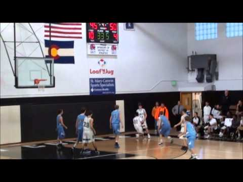 Pueblo South High School Basketball - Chris Linan - Rebound & Shot 2013