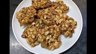 Dry Fruits Jaggery Chikki | Dry Fruits Patti | Dry Fruits Barfi .