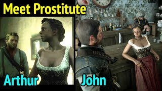 Arthur and John Meet Nasty Lady in Red Dead Redemption 2 (RDR2)