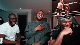 KSI Reacts To My 2nd Professional Fight KO!