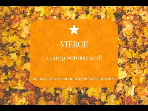 VIERGE : Votre tirage du 15 au 31 Octobre 2018