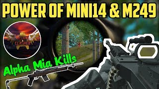 The Power Of Mini14 & M249 | HYDRA ALPHA Unstoppable Kills | PUBG Mobile Highlight #4