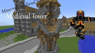 Minecraft Medieval Tower- Tutorial- How to Build a Medieval Tower
