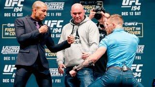 UFC 194: Jose Aldo vs. Conor McGregor Staredown