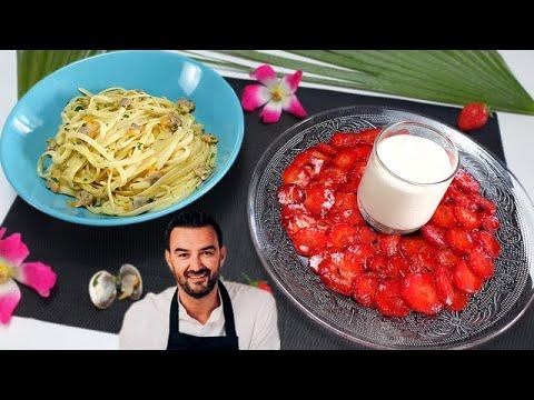 tous-en-cuisine-#56-:-je-teste-les-pÂtes-alle-vongole-et-les-fraises-a-la-rose-et-de-cyril-lignac-!