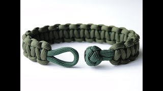 "How to Make a ""clean"" Diamond Knot and Loop Cobra Paracord Survival Bracelet-Hidden Melting Points"